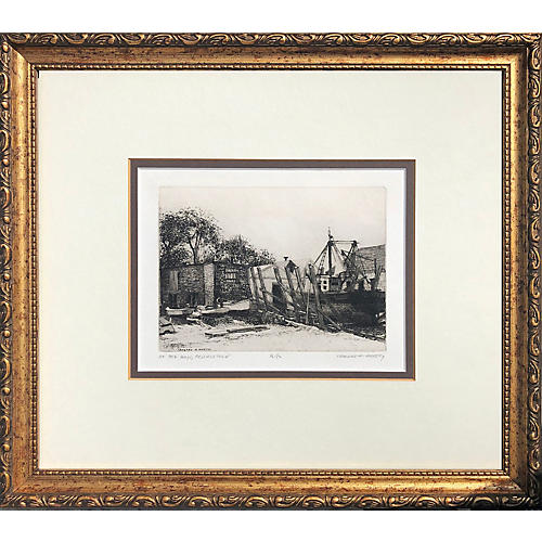 Provincetown Etching by L.H. Mersky