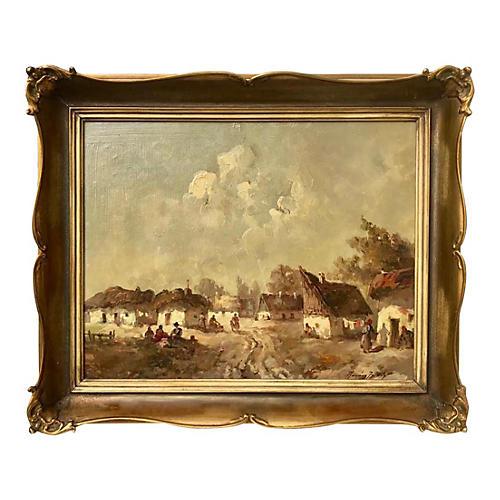 Impressionist European Village