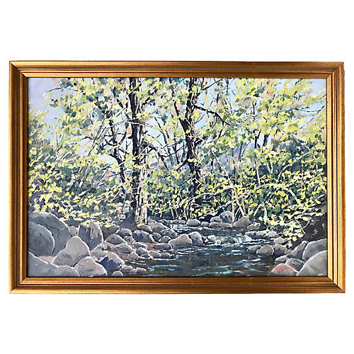 Impressionist Landscape by Longmore