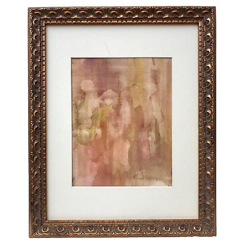 Watercolor Figurative Abstract Painting