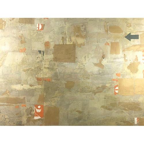 Mid Century Abstract Mixed Media by Berg
