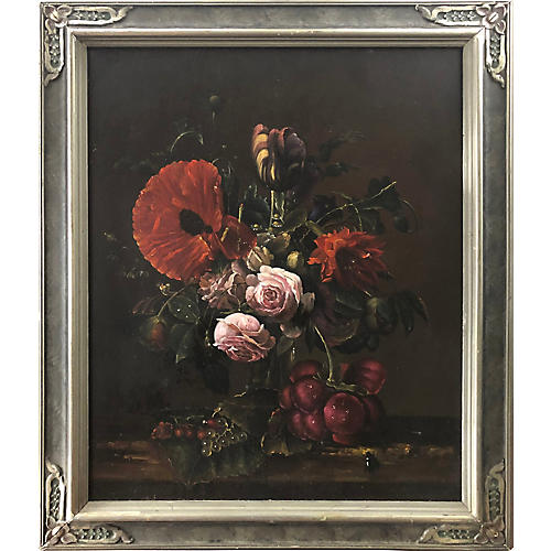 Old Master Style Still Life Oil Painting