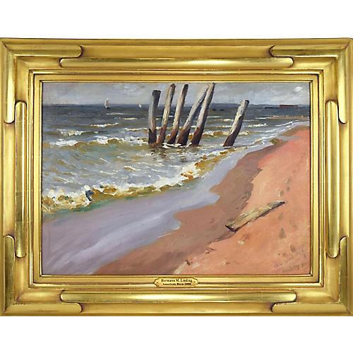 1910 Seascape by Herman Magnusun Linding