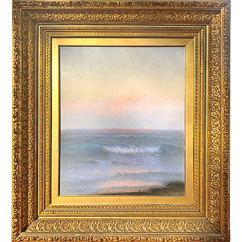Large 19th C. Seascape by Alfred Perkins