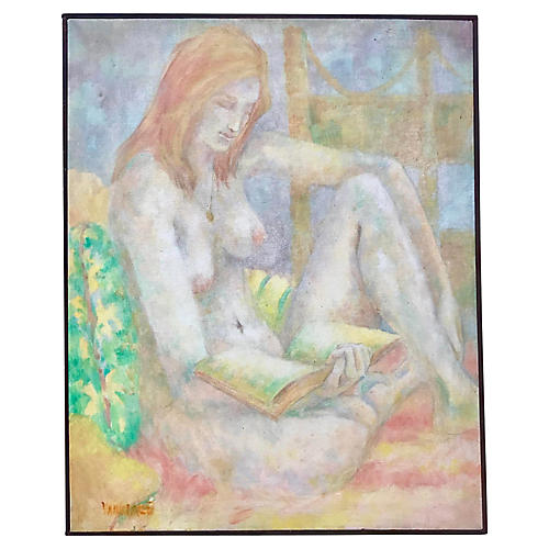 Nude Woman Reading by Wanda Varriale