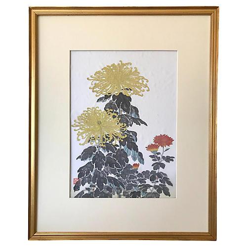 Japanese Woodblock Print Nisaburo Ito