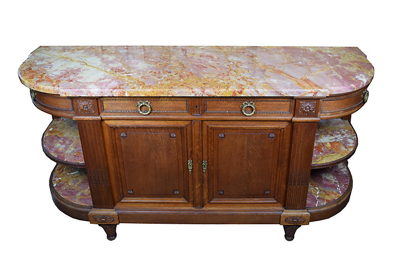 Antique Louis XVI Marble Top Sideboard