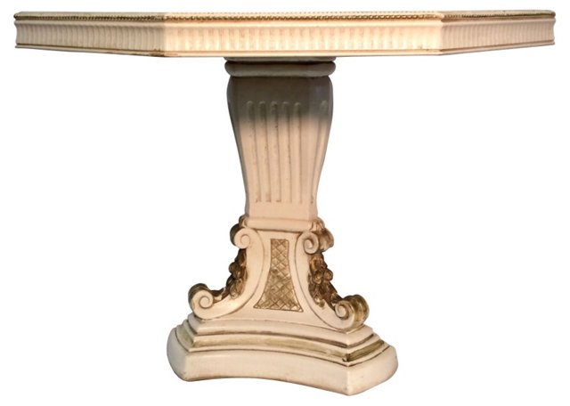 Hollywood Regency Octagonal Table
