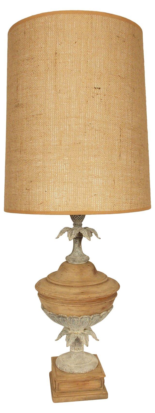 Wood & Metal Lamp w/ Shade