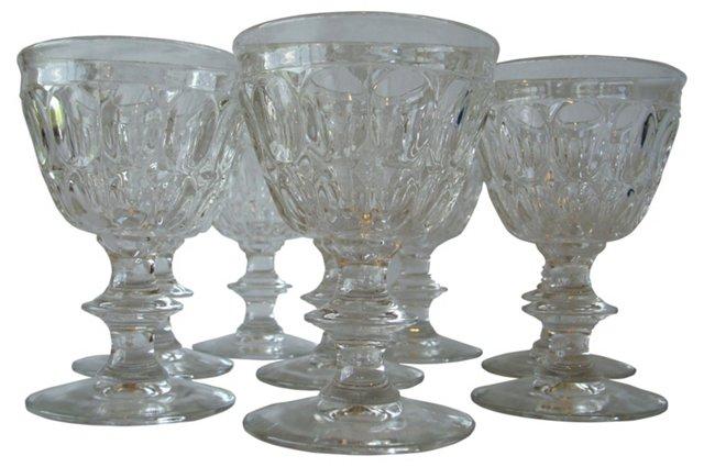 1960s Glass Cordials, Set of 8