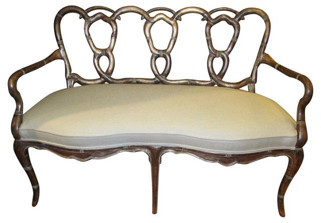 Venetian Upholstered Settee
