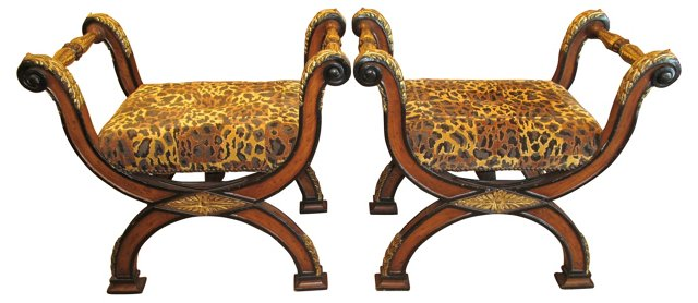 Empire-Style Benches, Pair