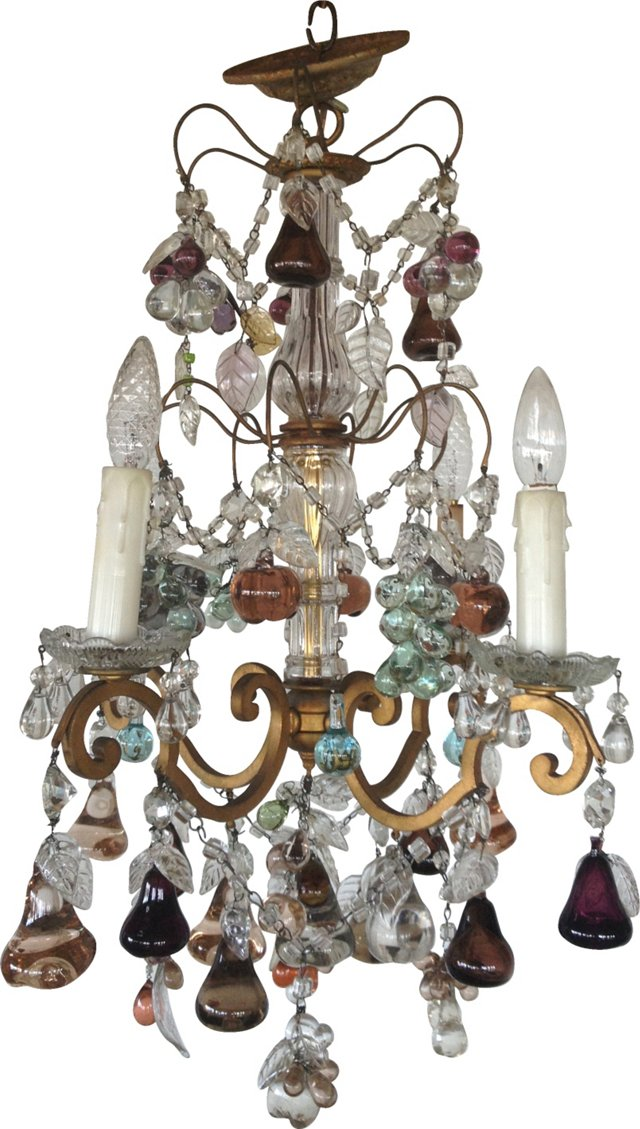 Italian Murano Fruit Chandelier