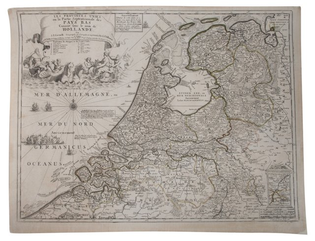 Map of the Netherlands, 1690