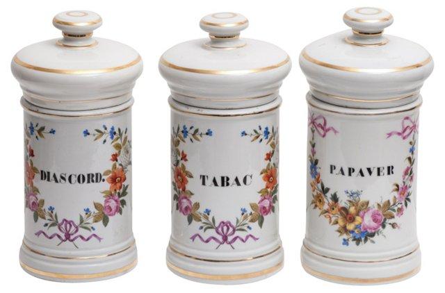 Apothecary Jars, S/3