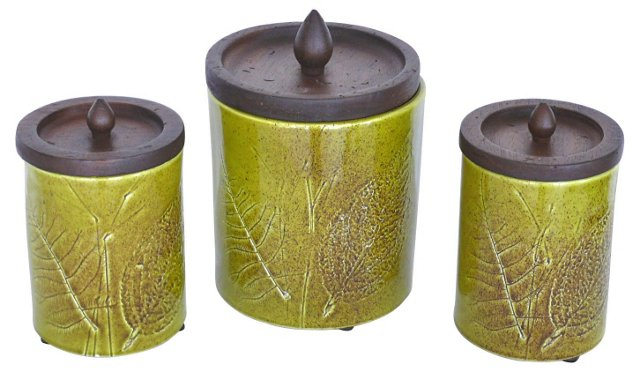 Ceramic Canisters by Raymor, S/3