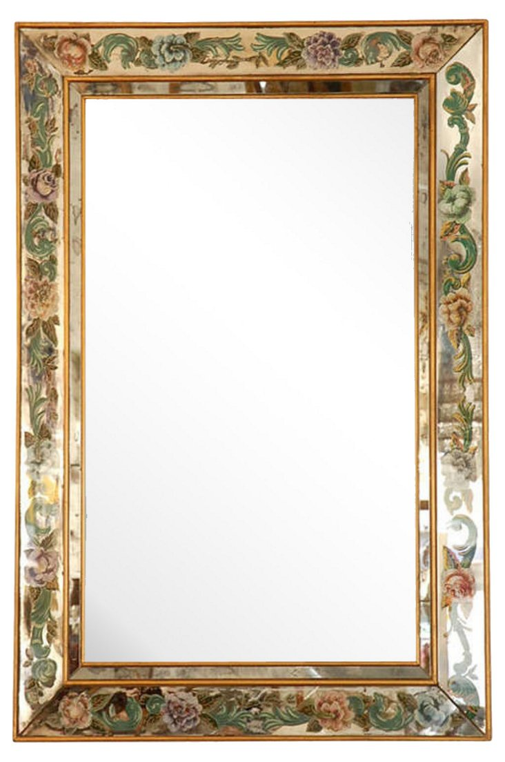 Reverse-Painted    Mirror