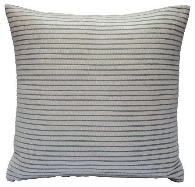 White Leather Pillow Sham