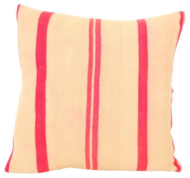 Pink-Striped Batani Pillow Sham