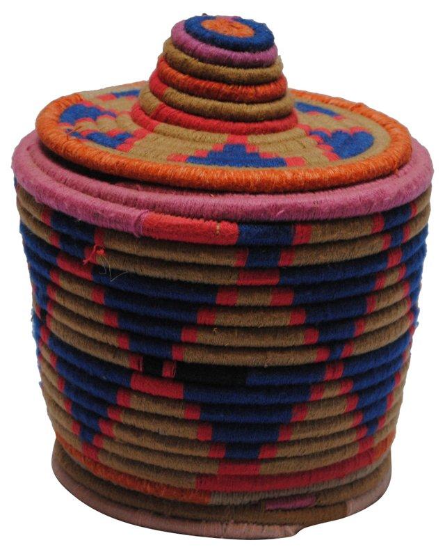 Blue Moroccan Bread Basket