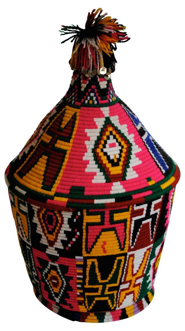 Multicolor Bread Basket w/ Sequins