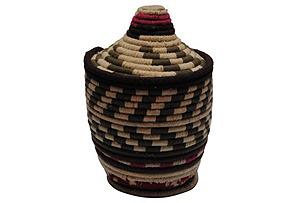 White & Gray Moroccan Basket