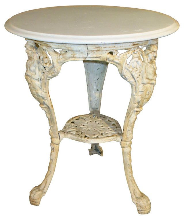 19th-C. Cast Iron Garden Table
