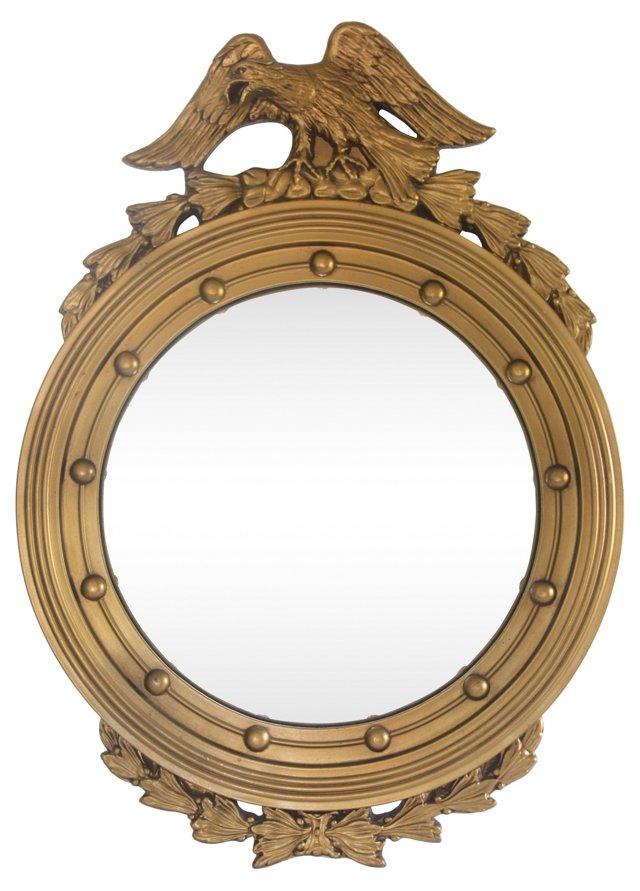 Gold Bullseye Eagle Mirror
