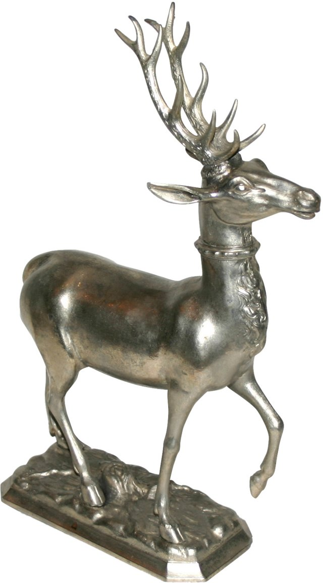 Silverplate Stag Drinking Flask