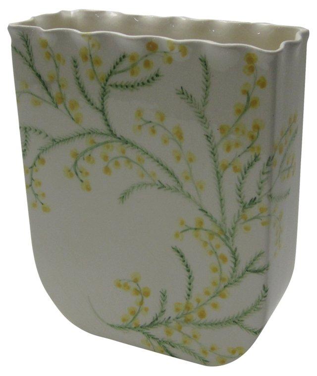 Scalloped Pottery Vase