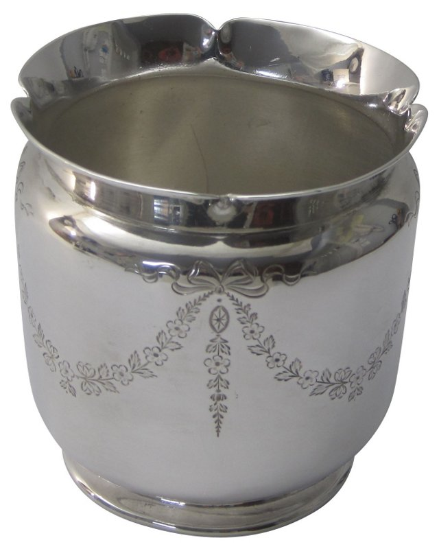 English Silver Cachepot, 1865