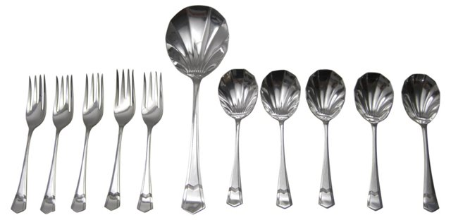 English Dessert Serving Set, 11 Pcs