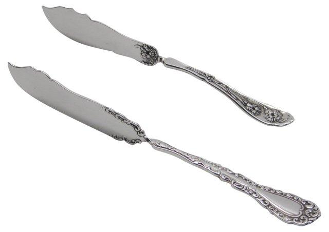 Silverplate  Pâté Servers, Pair