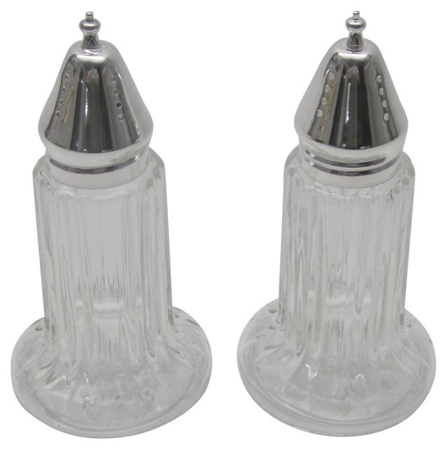 Silver & Glass Shakers