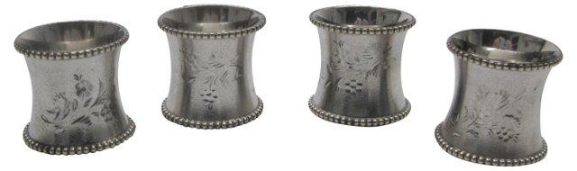 Antique Napkin Rings, S/4