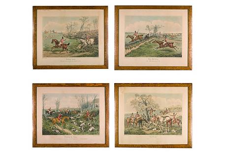 English Fox Hunt Engravings, S/4