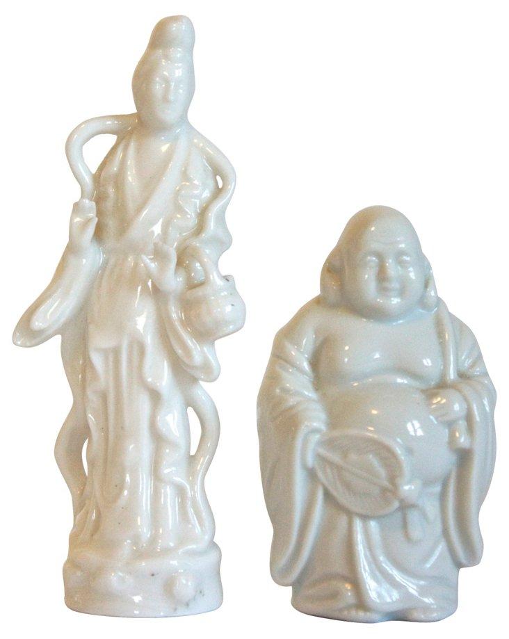Chinoiserie Figurines, Pair