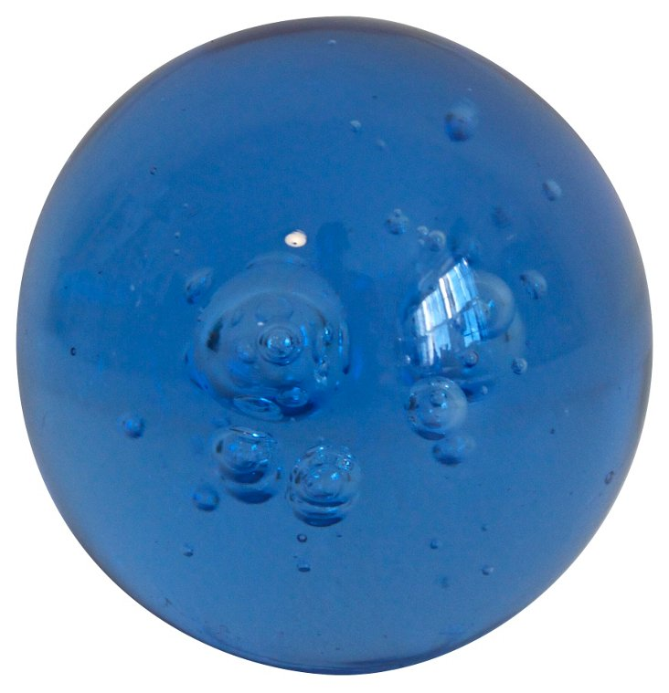 Blue Bubble Paperweight