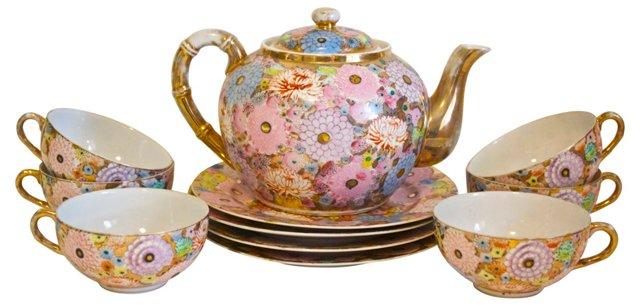 Floral Tea Set, 11 Pcs