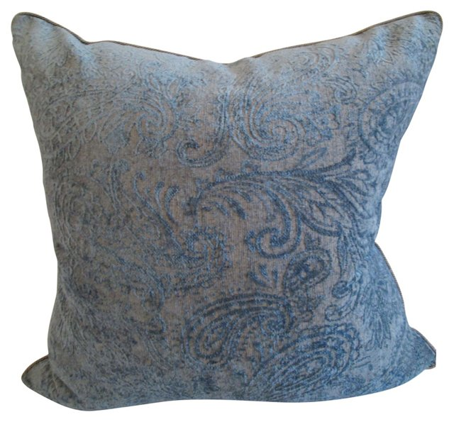 Chenille & Velvet Pillow