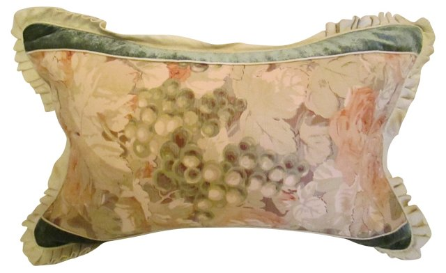 Custom Bennison, Linen & Velvet Pillow
