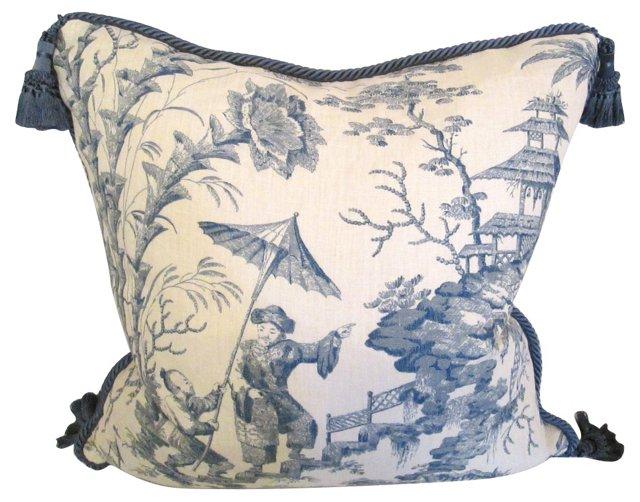 Elijah Slocum Chinoiserie Fabric Pilow