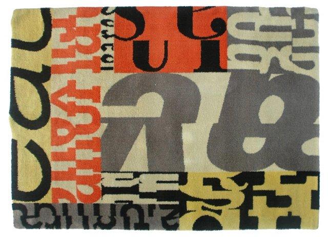 "Constructivist-Style Rug, 6'6"" x 4'6"""