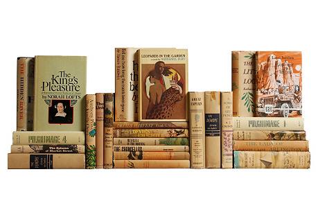 Midcentury Tan Novels, S/25