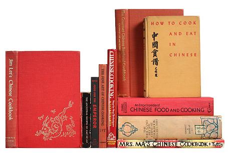 Chinese Cookbooks, S/10