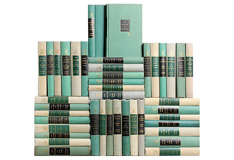 Green & Gray Modern Library Minis, S/42