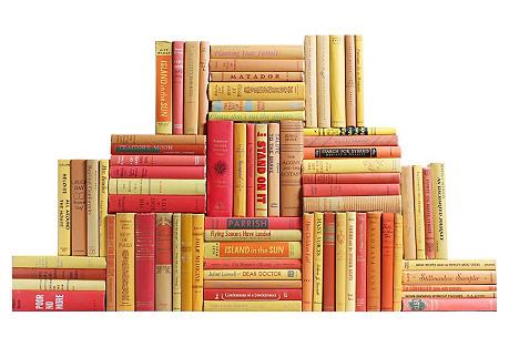 Midcentury Sunburst Book Wall, S/75
