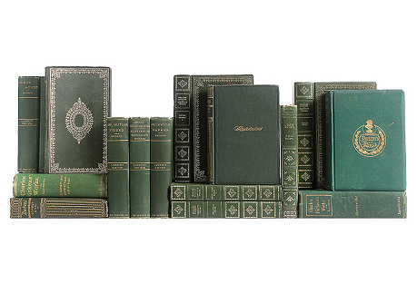 Dickens Library: Green & Gilt, S/15