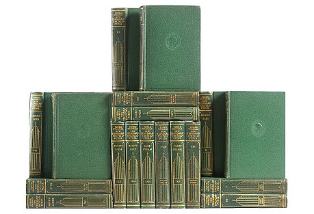 Green & Gilt Pocket Encyclopedias, S/18