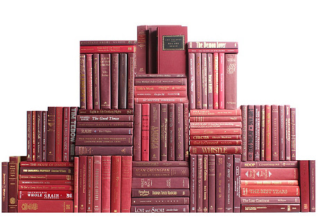 Burgundy Book Wall, S/100